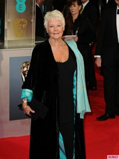 2014 BAFTAs Red Carpet Arrivals - Dame Judy Dench rockin some SuperStyle on the Red Carpet!