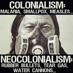 those that came to the new world did not know how or what small pox & measles were, they didn't purposely infect the population. so far as malaria, it was here long before anyone was here. neocolonialism...ridiculous