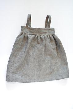 Linen dress Baby girl dress Baby girl linen by TextureAndMirth
