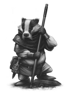 Little John The Badger - Critter Kingdoms™ Anthropomorphic Animals - Miniature Lines