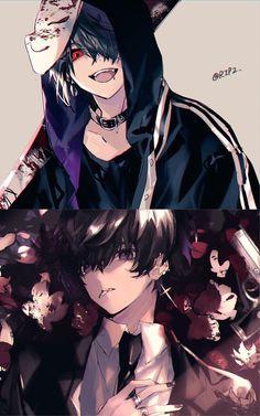 Anime Demon Boy, Dark Anime Guys, Cute Anime Guys, Anime Love, Blue Anime, Art Manga, Art Anime, Manga Anime, Anime Eyes