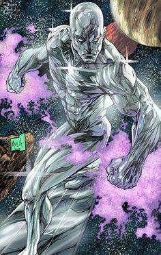 Silver Surfer Print by Javier Avila Comic Book Characters, Comic Book Heroes, Marvel Characters, Comic Character, Comic Books Art, Comic Art, Marvel Vs, Marvel Comics Art, Marvel Heroes
