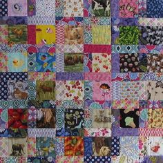 I-spy Baby Quilt Purple and Pink Quilt First by MourningDoveQuilts