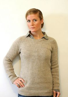 Classic Raglan Pullover for the Ladies!  Worsted weight yarn...