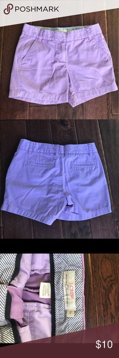 J. Crew chino shorts. EUC. J. Crew chino shorts. EUC. NO STAINS. 1st picture shows most accurate color- lavender. J. Crew Shorts