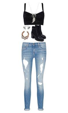 """Untitled #291"" by bleeding-neverland on Polyvore featuring Dolce&Gabbana, rag & bone/JEAN, Pamela Love, Zara, Journee Collection and Anna Beck"