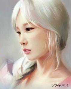 Taeyeon by . Jellyjellywing
