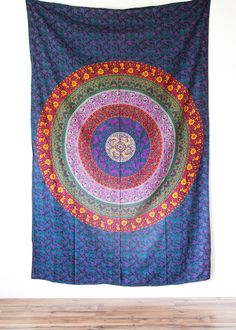 Small Multi-Colored Mandala Tapestry from The Bohemian Shop