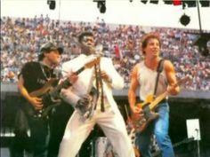 Nils Lofgren, Clarence Clemons and Bruce Springsteen.