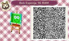 Este es un QR Code para Animal Crossing, creado por mí; como podéis observar, es un suelo, pared... (lo que deseéis) de Bob Esponja, con un color verde. [16-16]  Lo podéis encontrar en mi canal de YouTube: https://www.youtube.com/channel/UCh6uwa2CjSgR4WQ-ghRQY6Q (Roxy).  ¡Espero qué os guste! ;)