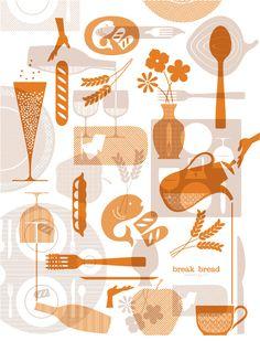 Break Bread Hospitality by Nathan Hinz, via Behance