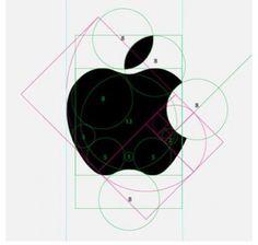 Golden Ratio/Ancient Geometry Apple Logo / well done design / sketching / process / branding / inspiration Illustration Inspiration, Graphic Design Inspiration, Coperate Design, Good Design, Symbol Design, Circle Design, Logo Apple, Apple Logo Design, Schrift Design