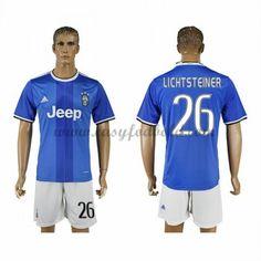 Fodboldtrøjer Series A Juventus 2016-17 Lichsteiner 26 Udebanetrøje