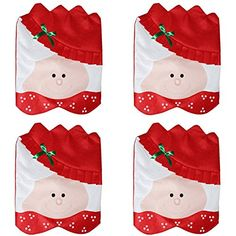 Mrs Santa Claus Christmas Dining Room Chair Cover Home Party Festive Decor Warm Family Chirstmas Decoration