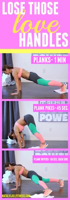 That's right! No more love handles for you! Try this workout in the morning before you start your day and notice the difference! Click the image for more fun body weight workouts targeted at losing body fat and CHANGING your body!