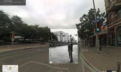 WWII in Street View: A boy salutes troops in San Antonio, Texas, 1942