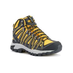 Pacific Mountain Crest Men's Waterproof Hiking Shoes, Size: 8, Yellow