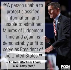 Vote Trump! Hillary is unfit in all aspects! Especially her decision making.
