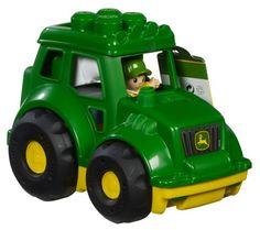 Amazon.com: Mega Bloks John Deere Tractor: Toys & Games