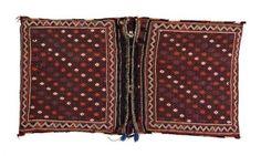 Persisch-Shiraz-Kissen  zweite Hälfte des 20. JH, gewebte Technik, 132*73 cm Persian-Shiraz-pillow  second half of the 20th century, woven technique, 132*73 cm