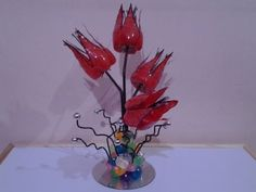 Best Out Of Waste Plastic transformed to delicate flower with butterflies Showpiece - YouTube