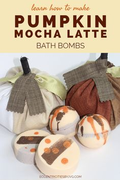 These pumpkin mocha latte bath bombs are super easy to make are absolutely lovely for the skin. Perfect for the fall pumpkin mocha latte bath bombs will make a great gift this season. #diybathbombs #diypumpkinmochalattebathboms