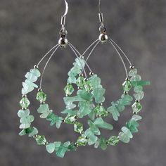 Green Jade big tear drop hoop Earrings Bridesmaids gifts Free US Shipping handmade Anni Designs by AnniDesignsllc on Etsy https://www.etsy.com/listing/118595609/green-jade-big-tear-drop-hoop-earrings