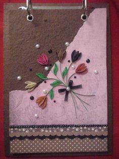 Bloquinho de papel artesanal quilling 5