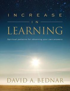 """""""Increase in Learning"""" by Elder David A. Bednar. I watched the group discussion he had with some Young Adults and it was very interesting. I've started to read it, and have already felt the desire to be more actively engaged in learning more about the gospel. Highly recommend this book aleady!"""