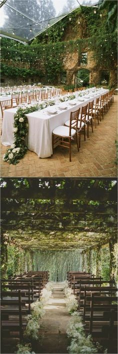 amazing covered outdoor wedding venue | fairytale wedding inspiration | wedding inspo | more wedding ideas @danellesbridal danellesboutique.com #BarnWeddingIdeas #weddinginspiration