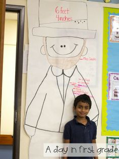 Just how tall WAS Abraham Lincoln? {super fun Presidents' Day measuring activity}