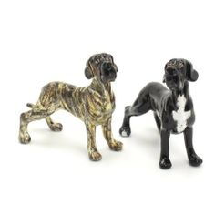 Great Dane Dog Ceramic Figurine Salt Pepper Shaker Uncrop Ears 00023 Ceramic Handmade Dog Lover Gift Collectible Home Decor Art and Crafts by Great Dane - madamepOmm -. $59.00. Great Dane Dog Lover Ceramic Original Handmade Hand Paint Salt and Pepper Shaker Figurine Ceramic Home Decor Collectibles  Made of ceramic porcelain high fired interior apply clear under-glaze, food safe painted with attention hand painted acrylic paint then apply clear gloss protected....