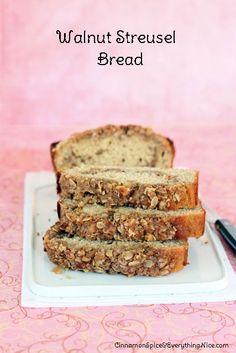 walnut streusel bread brown sugar rolled oats flour butter walnuts 3 ...