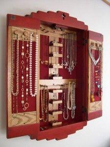 Mission Jewelry Cupboard Interior