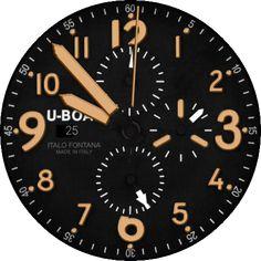 U-Boat Flightdeck 50 Inspired Sand watch face preview