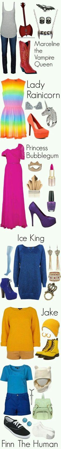 Eu gostei da (o)  ice  king:  rei gelado da princess bublegum:  princesas jujuba e da lady iris