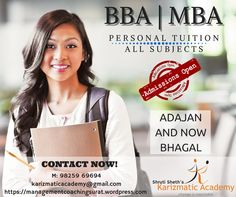#BBA #MBA #tuition in #Surat. Admission open for all #Universities. Contact now 9825969694