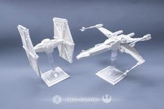 Ghostly X-wing & TIE Fighter haunt us from a long time ago in a galaxy far, far away...