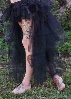 Layered long tutu skirt