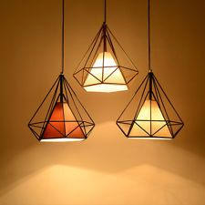 Birdcage Metal Frame Pendant Lamp Lightshade Minimalist For Room Office Decor UK in Home, Furniture & DIY, Lighting, Lamp Ceiling Light Shades, Lamp Light, Ceiling Lights, Metal Ceiling, Modern Ceiling, Lamp Shades, Ceiling Lamp, Restaurant Lighting, Bar Lighting