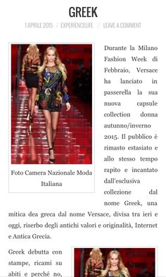 Oggi si parla della collezione Autunno Inverno 2015, presentata da Donatella Versace durante la Milano Fashion week di Febbraio. http://www.experiencelife.it/greek-2/ @gattofederica #versace #fashion #style #stylish #love #TagsForLikes #me #cute #photooftheday #nails #hair #beauty #beautiful #instagood #pretty #swag #pink #girl #girls #eyes #design #model #dress #shoes #heels #styles #outfit #purse #jewelry #shopping