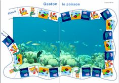 Gaston le poisson Game about recycle and biology. Cycle 3, Pirate Activities, 7 Continents, Under The Sea Theme, Gaston, Gross Motor, Reggio, Earth Day, Little People
