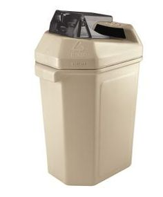 30 Gallon Aluminum Can Crusher Indoor Recycling Station Can Pactor 745102 - outdoor & indoor trash cans, recycle bins, & ashtrays for commercial, office or home. Trash Containers, Recycling Containers, Recycling Bins, Aluminum Can Recycling, Aluminum Cans, Recycling Station, Plastic Drums, Green Zone, Recycle Cans