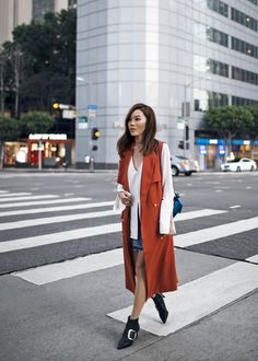 Meanwhile, back to reality in LA. The attire from running to meetings and… Blazer Outfits Casual, Vest Outfits, Fashion Now, Fashion Outfits, Fashion Ideas, Fashion Beauty, Fall Winter Outfits, Spring Outfits, Spring Summer Fashion