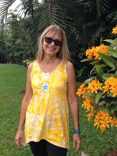 Petrina Kauai Hawaii Hand Painted Sleeveless by PetrinaBlakely, $40.00 Gorgeous new photo by an orchid in my yard