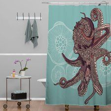 Shower Curtain Octopus | Wayfair