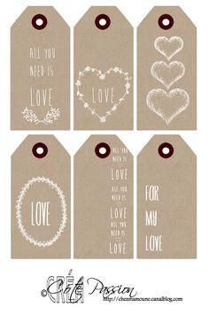 étiquettes love