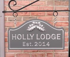 029c51176e7 Custom Carved House Name Sign Holly Lodge by CarvedHouseSigns on Etsy  house  name