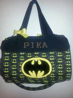 Made to order personalized Batman Diaper by BlingThingsByColleen, $75.00