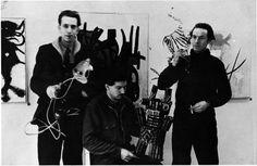 left: Constant, middle: Karel Appel, right: Corneille, Burning Earth, 1951